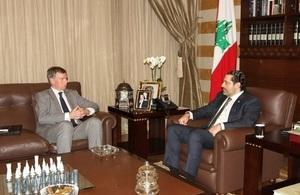 Ambassador Hugo Shorter with Prime Minister Hariri