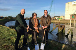 The Floods Minister has marked the start of works on the Boston Barrier.
