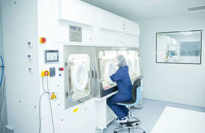 MeiraGTx colleague in their facilities