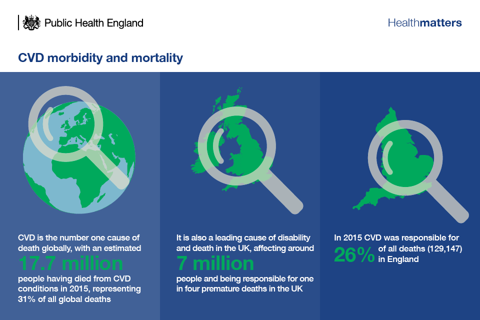 Infographic of CVD morbidity and mortality