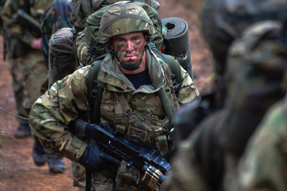 A Royal Marine from 42 Commando on Exercise Gaelic Venture
