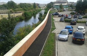 Photo of the Sheffield flood scheme