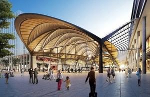 Euston station entrance canopy concept