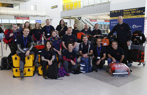 The UK Emergency Medical Team pictured at Manchester Airport. Picture: Russell Watkins/DFID