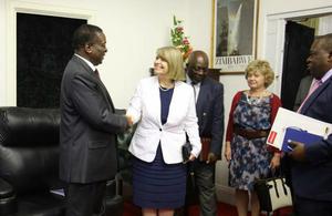 Minister Baldwin meets President Mnangagwa