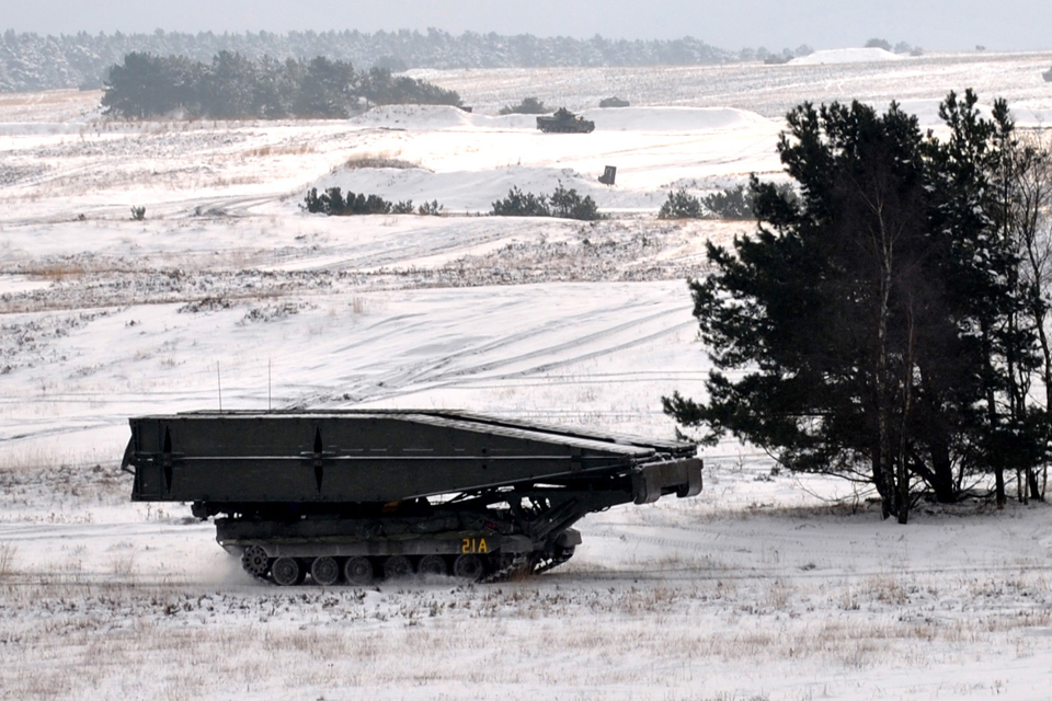 A Titan armoured engineer vehicle