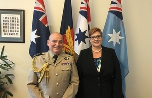 Chief of Defence Staff Sir Stuart Peach and Australian Minister for Defence Marise Payne. Copyright @MarisePayne.