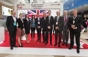 The Healthcare UK delegation at Arab Health 2018 led by Health Minister Lord O'Shaughnessy