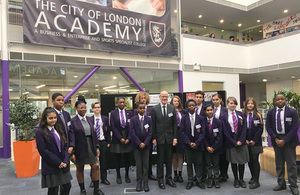 Nick Gibb at City of London Academy