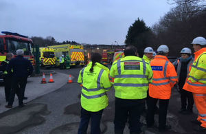 Multiple organisations attended the scene to deal with effects of cyanide leak