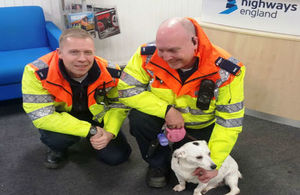 Traffic officers Nick and John with Sally the terrier
