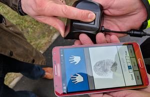 Read Police trial new Home Office mobile fingerprint technology article