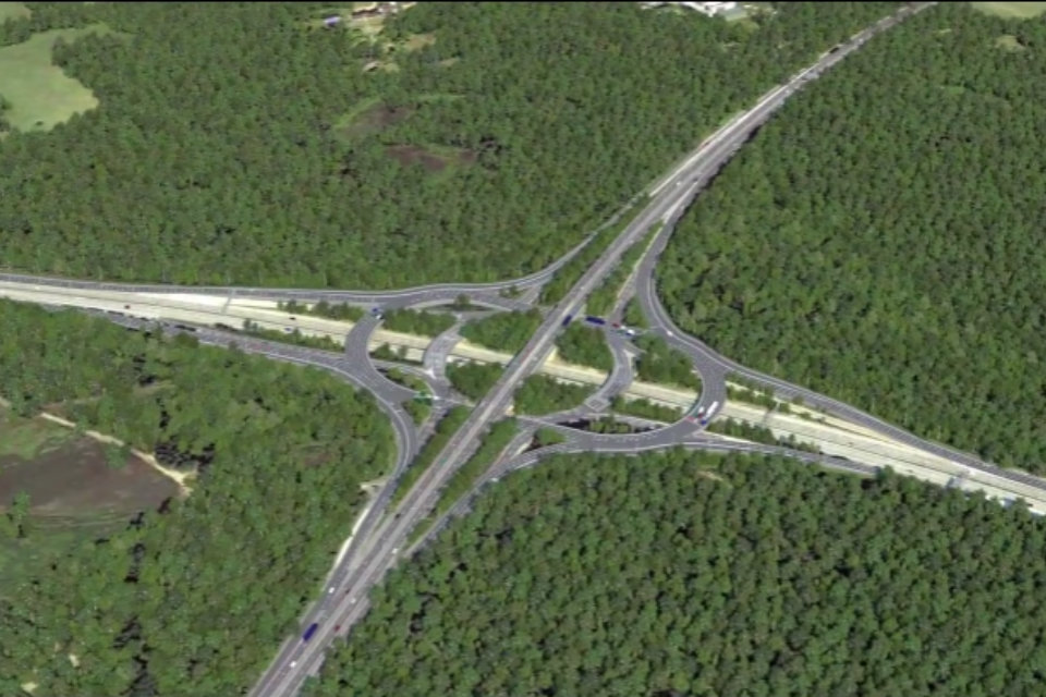 Image showing the visualisation of the proposed improvements at junction 10 on the M25