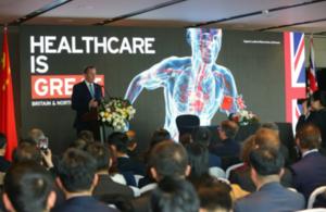 Liam Fox speaking at the Future of Medicine event