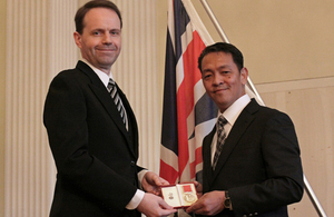 Mr Fernando Bangit honoured by The Queen