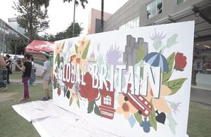 Global Britain Mural at the Great British Festival 2017