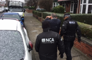 NCA officers during an earlier operation
