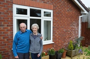 Fred and June with their new double glazing