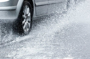 A shocking two-thirds of drivers would gamble with their safety by driving through floodwater