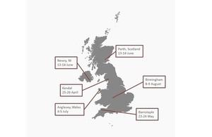 Map of LPC 2018 visits