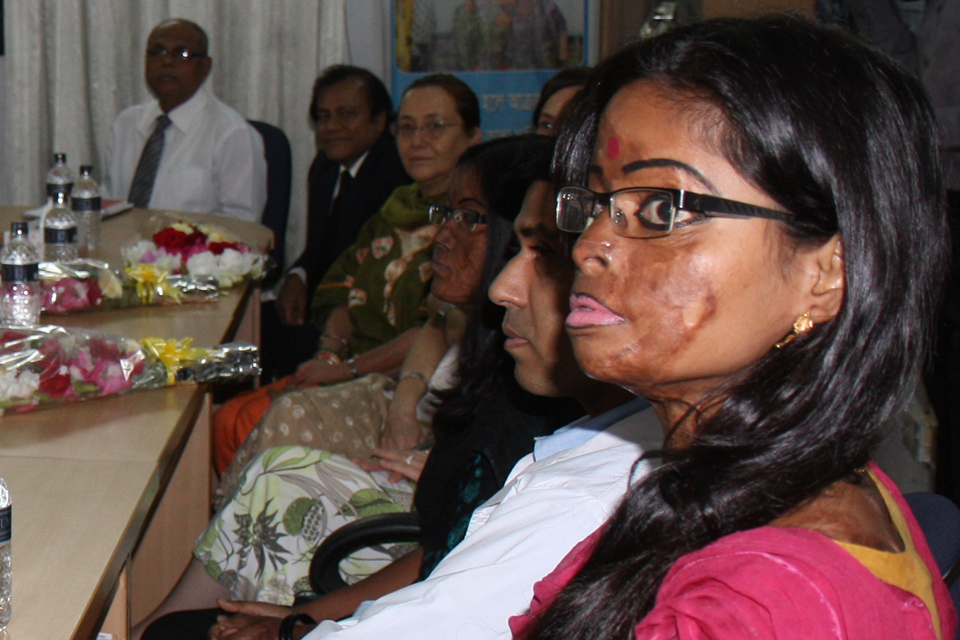 Hasina attending Eliminating Violence Against Women event. Picture: Narayan Debnath/DFID