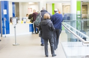Patients in a queue