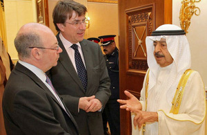 His Royal Highness Prime Minister Prince Khalifa Bin Salman Al Khalifa meets with FCO Minister Alistair Burt