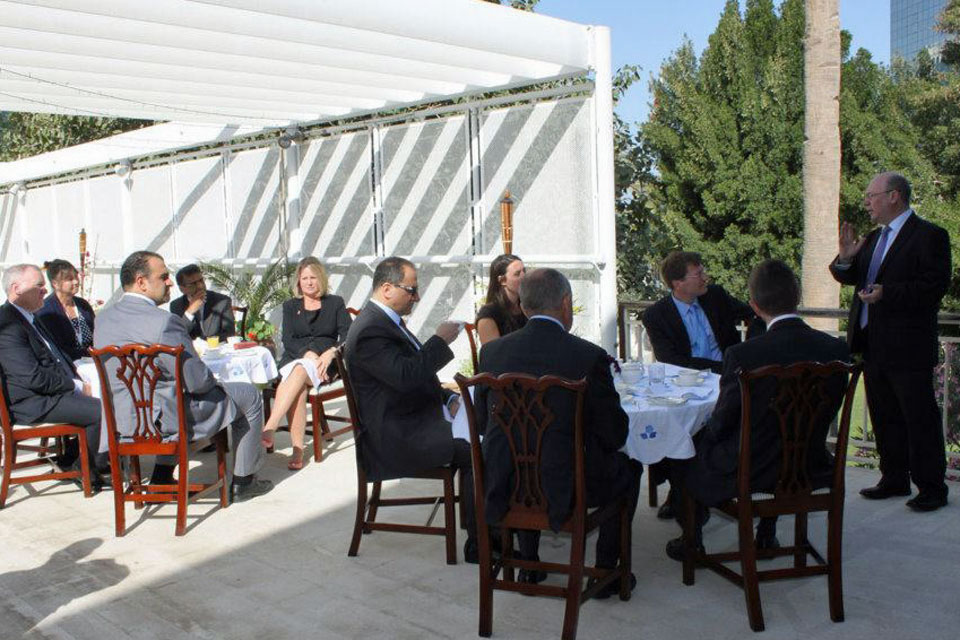 Alistair Burt meets with British Business men and women