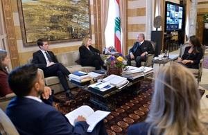 UK Home Secretary visits Lebanon