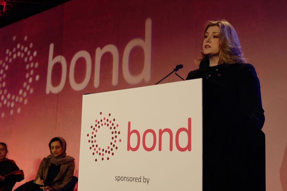 Penny Mordaunt Bond conference