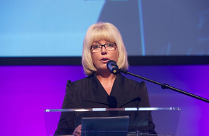 Baroness Newlove speaking at the Making a Difference Awards