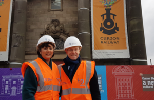Picture of Nusrat Ghani with Mayor Andy Street at Curzon Street.