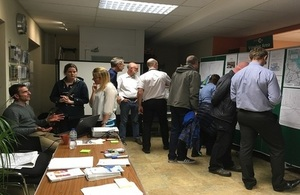 Residents and businesses viewing proposals for Otley at an event in October
