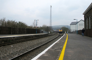 Station in Wales.