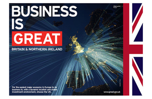 Image of Business Is GREAT campaign poster.