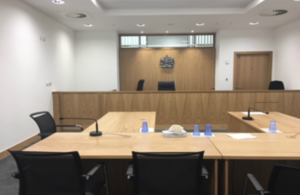 Picture of new courtroom