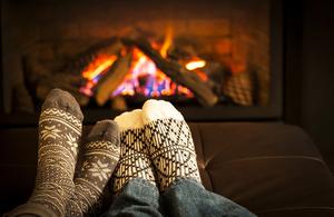 feet near warm fire