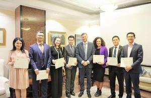 Welcome home Chevening 2017 Graduates from Uzbekistan.