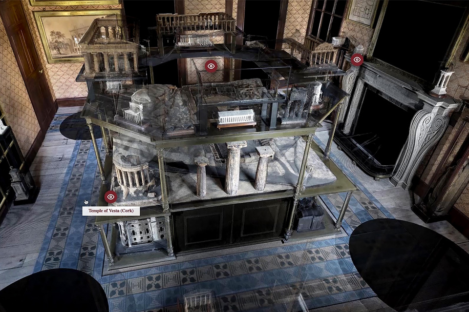 3D replica of Model Room, Sir John Soane's Museum