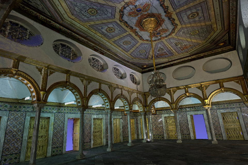 3D mapping of the Ksar Said palace © The Virtual Experience Company