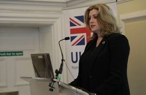 Penny Mordaunt at the Safeguarding Summit. Picture: Jo Harrison/DFID