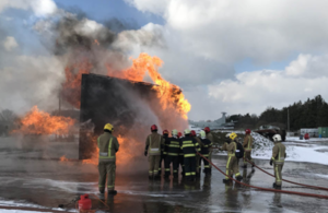 Six Slovakian Air Force firefighters have undergone training in the UK to learn vital skills needed to tackle major aircraft fires.