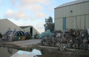 Some of the waste that was not cleared from the Worksop site