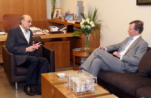 Ambassador Shorter meets Lebanese Forces leader Geagea