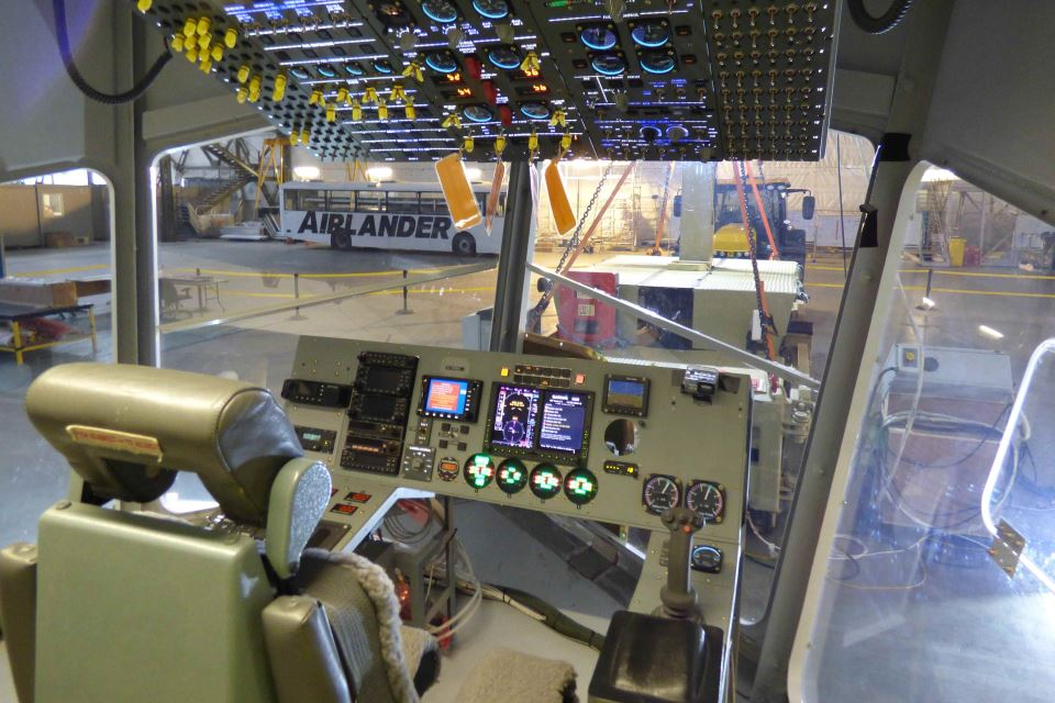 The flight deck of the Airlander