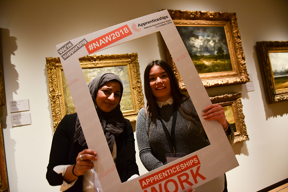 Apprentices at the Apprenticeships Work for Women Event