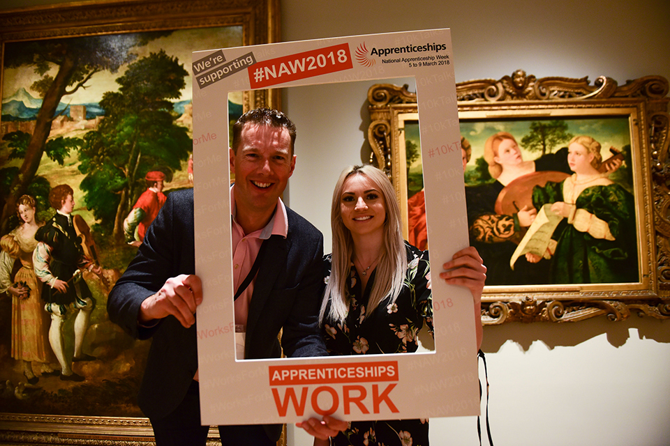 Employer and apprentice at Apprenticeships work for women event