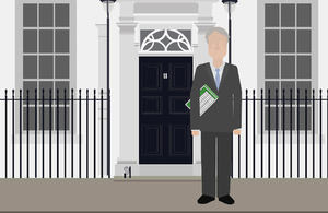Graphic of Philip Hammond outside 11 Downing Street