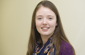 Kelly, an apprentice in the Cabinet Office. Photo: Crown copyright.