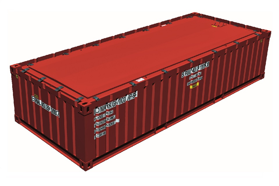 TC01 – Half-height IP-2 ISO Container
